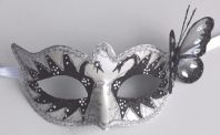 White and Black Butterfly Swan Mask